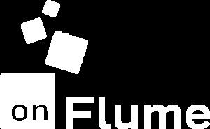 on flume logo in white